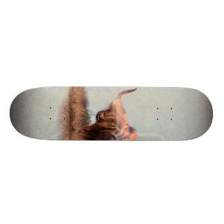 Wild yak - Yak nepal - double exposure art - ox Skateboard Deck