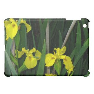 Wild yellow irises iPad mini cases