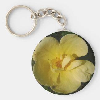 Wild Yellow Rose Key Chain