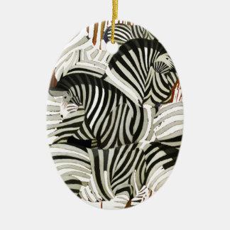 Wild Zebra Ceramic Ornament