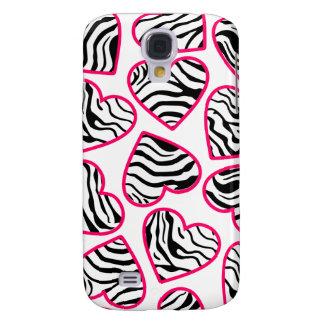 Wild zebra hearts  samsung galaxy s4 cases