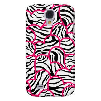 Wild zebra hearts  samsung galaxy s4 case