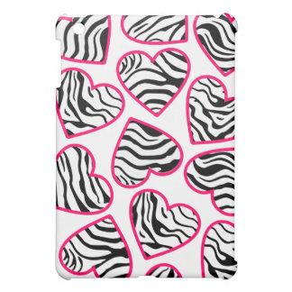 Wild zebra hearts  cover for the iPad mini