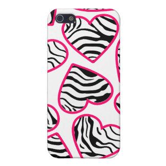 Wild zebra hearts iPhone 4 case