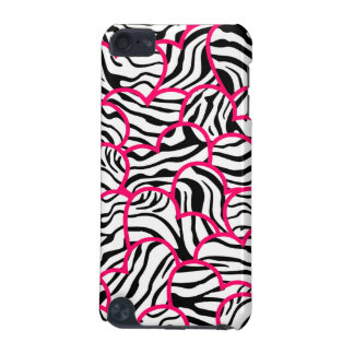 Wild zebra hearts iPod case iPod Touch (5th Generation) Case