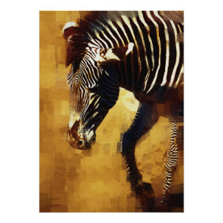 WILD ZEBRA ORIGINAL ART Photo Manipulation Poster