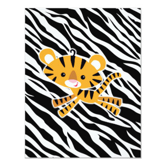 wild zebra PINK baby shower invitations! Card