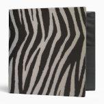 Wild Zebra Print Binder
