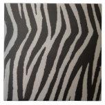Wild Zebra Print Ceramic Tiles