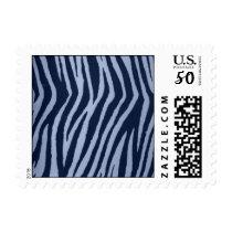 Wild Zebra Print Denim Postage