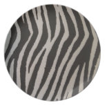 Wild Zebra Print Dinner Plate