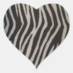Wild Zebra Print Heart Sticker