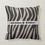 Wild Zebra Print Pillow