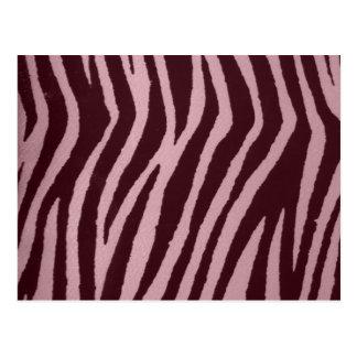 Wild Zebra Print Pink Post Card