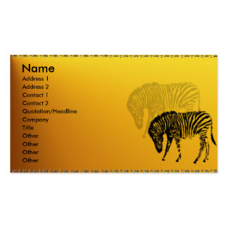 Wild Zebra Profile Card Double-Sided Standard Business Cards (Pack Of 100)