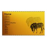 Wild Zebra Profile Card Business Cards