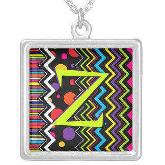 Wild Zig-Zag Silver Plated Necklace