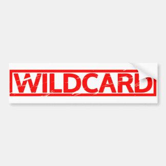 Wildcard Stamp Bumper Sticker