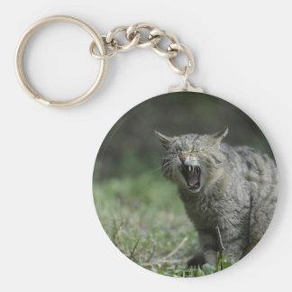 Wildcat Basic Round Button Keychain