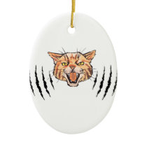 Wildcat Claw Marks Ceramic Ornament