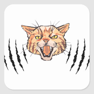 Wildcat Claw Marks Square Sticker
