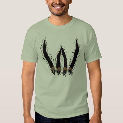Wildcat Claw Ripping Through T-shirt by Al Rio