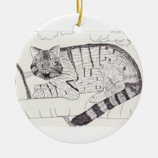 Wildcat Drawing ornament