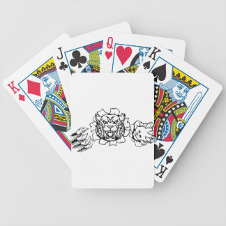 Wildcat Holding Bowling Ball Breaking Background Bicycle Playing Cards