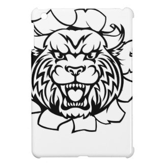 Wildcat Holding Bowling Ball Breaking Background iPad Mini Case