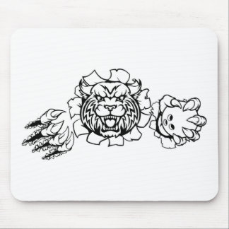 Wildcat Holding Bowling Ball Breaking Background Mouse Pad