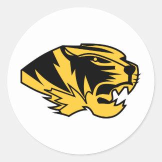 Wildcat Mascot Classic Round Sticker