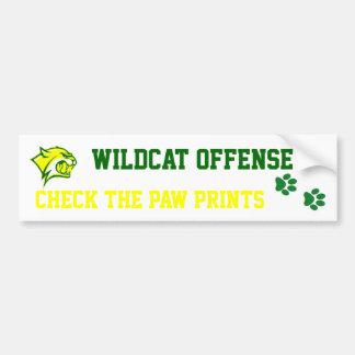 wildcat offense car bumper sticker