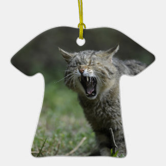 Wildcat Double-Sided T-Shirt Ceramic Christmas Ornament