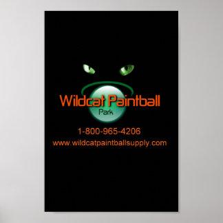 Wildcat Paintball Poster