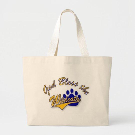 wildcat pin large tote bag