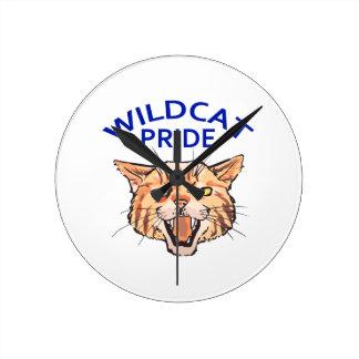 Wildcat Pride Round Clock