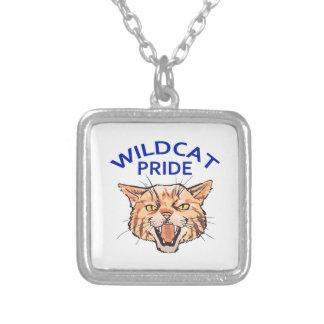 Wildcat Pride Square Pendant Necklace