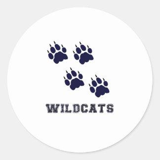 Wildcat Tracks Classic Round Sticker