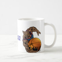wildcats, wildcat, basketball, blue, red, elementary, middle, high, school, college, al rio, Mug with custom graphic design