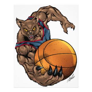 Wildcats Basketball art Blue Shirt, Red Stripe Flyer