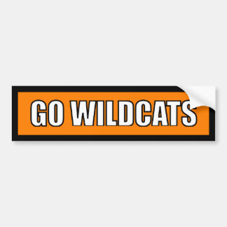 Wildcats - Black Orange White Bumper Sticker