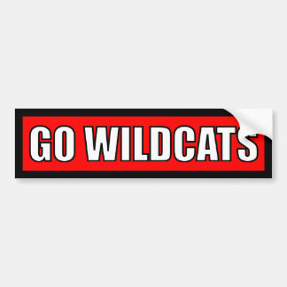 Wildcats - Black Red White Bumper Sticker