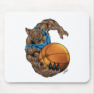 Wildcats Bobcats Basketball Blue, L. Blue Stripe Mouse Pad