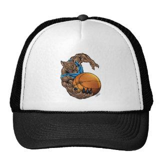 Wildcats Bobcats Basketball Blue, L. Blue Stripe Trucker Hat
