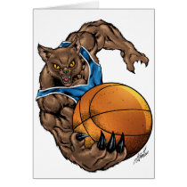 wildcats, wildcat, basketball, team, blue, white, elementary, middle, high, school, college, rio, kentucy, kentucky, bobcats, bobcat, Card with custom graphic design