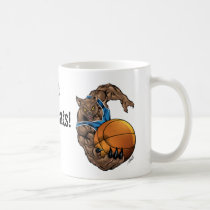 wildcats, wildcat, basketball, team, blue, white, elementary, middle, high, school, college, rio, kentucky, bobcats, bobcat, Mug with custom graphic design