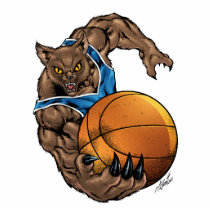 wildcats, wildcat, bobcat, bobcats, basketball, team, blue, white, elementary, middle, high, school, college, rio, kentucky, Photo Sculpture with custom graphic design