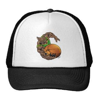 Wildcats Bobcats Basketball Green, Yellow Stripe Trucker Hat