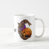 wildcats, wildcat, basketball, team, purple, white, elementary, middle, high, school, college, rio, keystone, ohio, bobcat, bobcats, Mug with custom graphic design