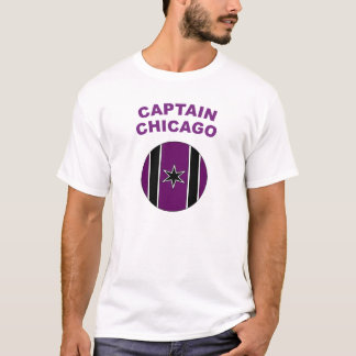 Wildcats Captain Chicago Shield w/text T-Shirt